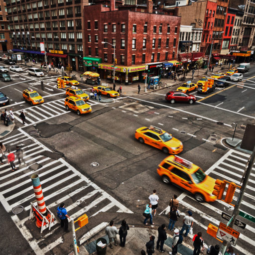 Turning accidents crowded intersection
